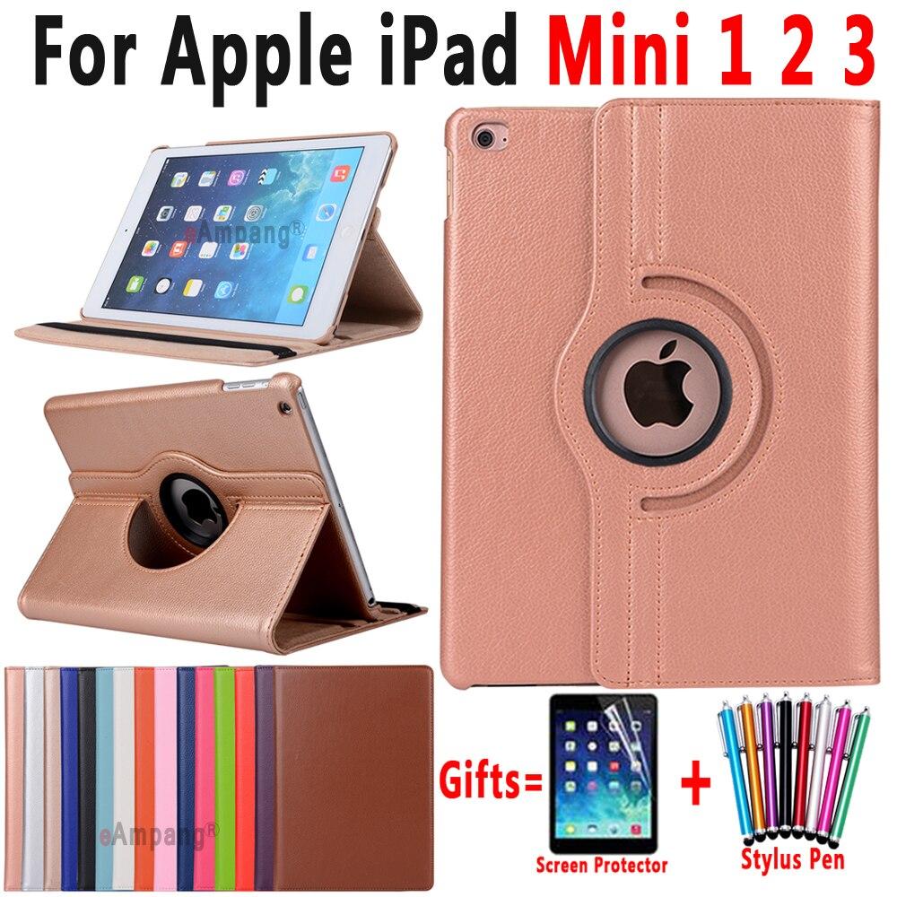 For IPad Mini 1 2 3 Case Cover 360 Degree Rotating Leather Smart Shell Cover For Apple IPad Mini 1 2 3 7.9 Case Coque Capa Funda