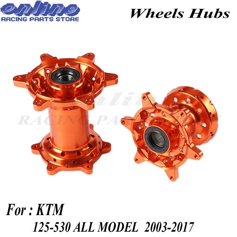 Высочайшее качество ЧПУ заготовки 36 отверстиями оранжевый MX спереди и сзади колеса концентраторы новый комплект для KTM 125 530 2003 2017 Мотоцикл