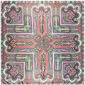 90 см * 90 см этническая Геометрические печати LIC шарфы женские Обертывания 2017 новые прибытия площади шелковые шарфы женщина хиджаб écharpe A381