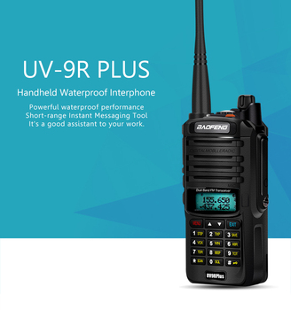 2pcs high quality 10W 20km Baofeng UV-9R plus  ham radio cb radio comunicador  waterproof walkie talkie baofeng uv 9r plus рация 2