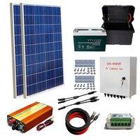 200 Вт off Grid system 2 шт. 100 Вт солнечная панель и 100ah батарея заряда 12 В мощность дома солнечной энергии системы Солнечный Солнечная панель с ячеис