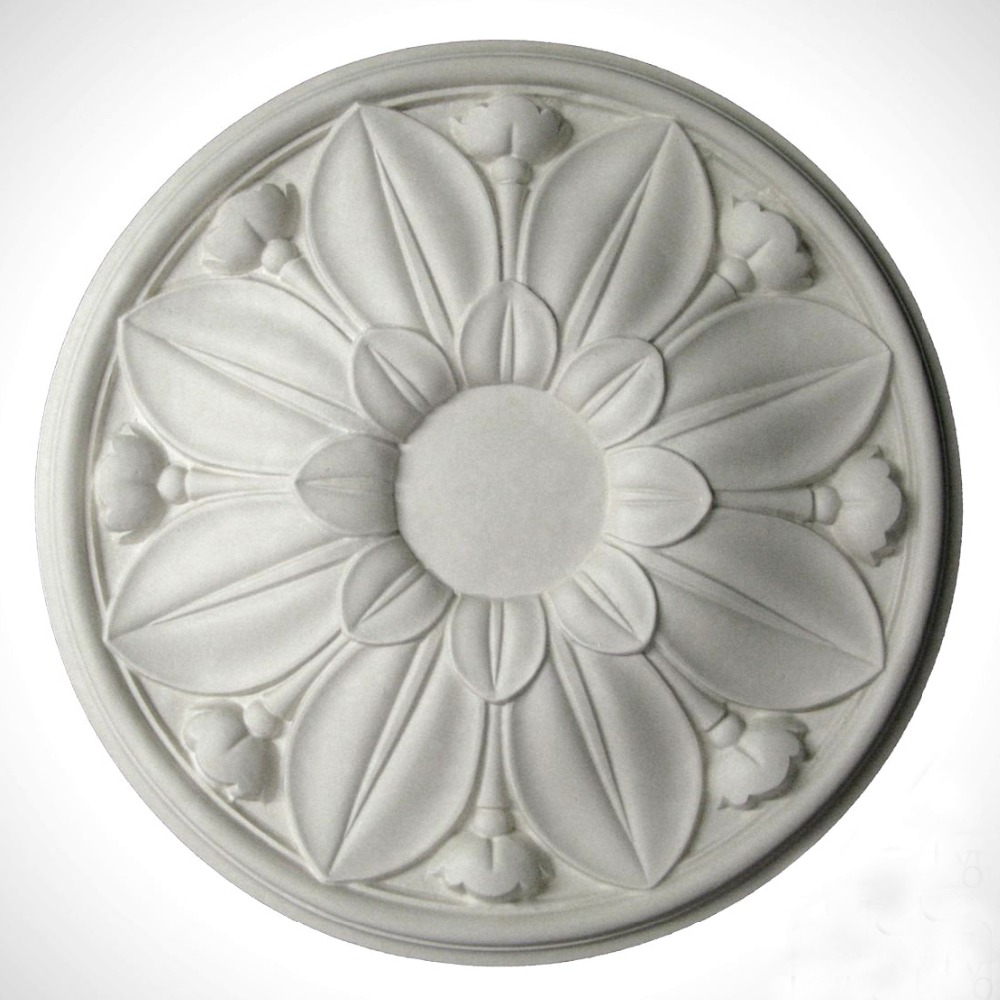 US $38.0 |decorative ceiling rose pendant lamp decor panel chandelier ceiling plate PU ceiling rosette-in Lamp Bases from Lights & Lighting on ...