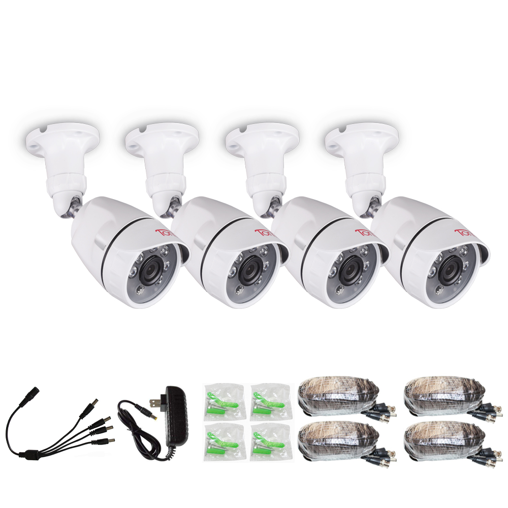 Tonton 1080P 4 PACK HD 2 0MP Hi Resolution CCTV Security Camera with 82ft font b