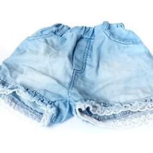 Kids Girls Shorts Jeans Lace Pocket Demin Short Pants Cowgirl Trousers For 1 6 Y