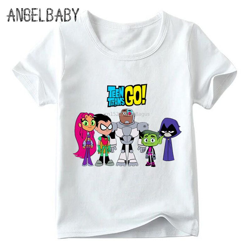 Children Cartoon Teen Titans Go Funny T shirt Summer Baby Boys/Girls Tops Short Sleeve T-shirt Kids Casual Clothes,HKP5129Children Cartoon Teen Titans Go Funny T shirt Summer Baby Boys/Girls Tops Short Sleeve T-shirt Kids Casual Clothes,HKP5129