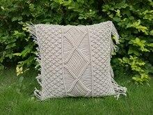Macrame cushion cover Bohemian throw pillow / wedding decorative sham custom size and color
