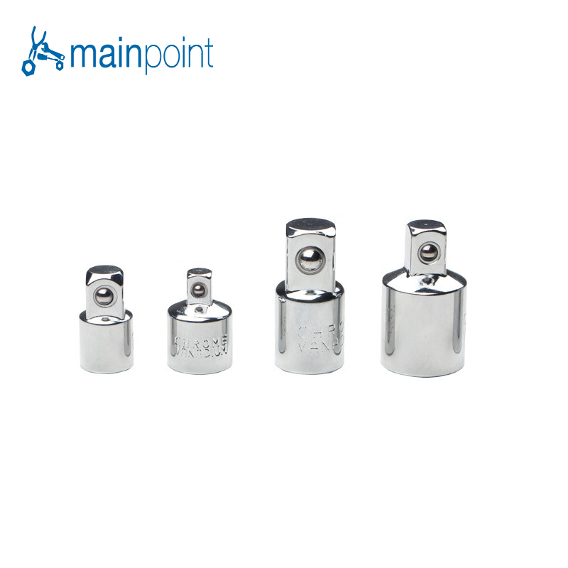 Mainpoint Ratchet Socket Adapter Reducer Sets 1/4 3/8 1/2 Inch Drive 4Pcs Kit Hand Reducing Converter Multifunctional Tools xkai 14pcs 6 19mm ratchet spanner combination wrench a set of keys ratchet skate tool ratchet handle chrome vanadium