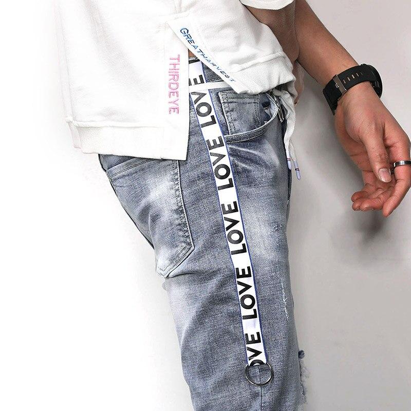 2018 New Men Jeans Runway Slim Racer Biker Jeans Fashion Hiphop Skinny Jeans For Men Denim Joggers Pants Male