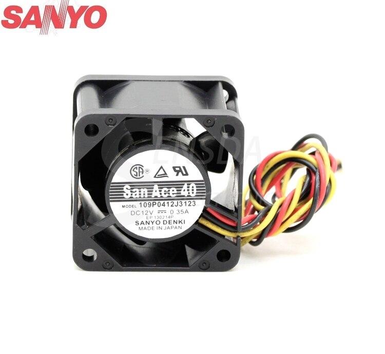 SANYO 109P0412J3123 4 CM 40mm DC 12 V 0.35A 4028 serveur onduleur cas axial ventilateurs de refroidissement