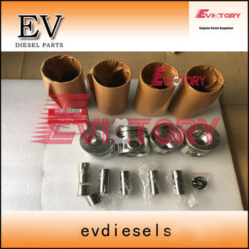 For hyundai R75-7 excavator engine overhauling S4S S4SDT S4S-DT Piston and piston ring cylinder liner
