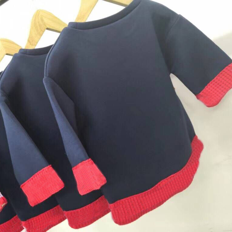 Kids Baby Girls Sweatshirt Children Autumn Tops T-shirt Navy Cotton Casual Long Sleeve Sweatshirts in stock fashion women leather backpack rucksack travel school bag shoulder bags satchel girls mochila feminina school bags for teenagers