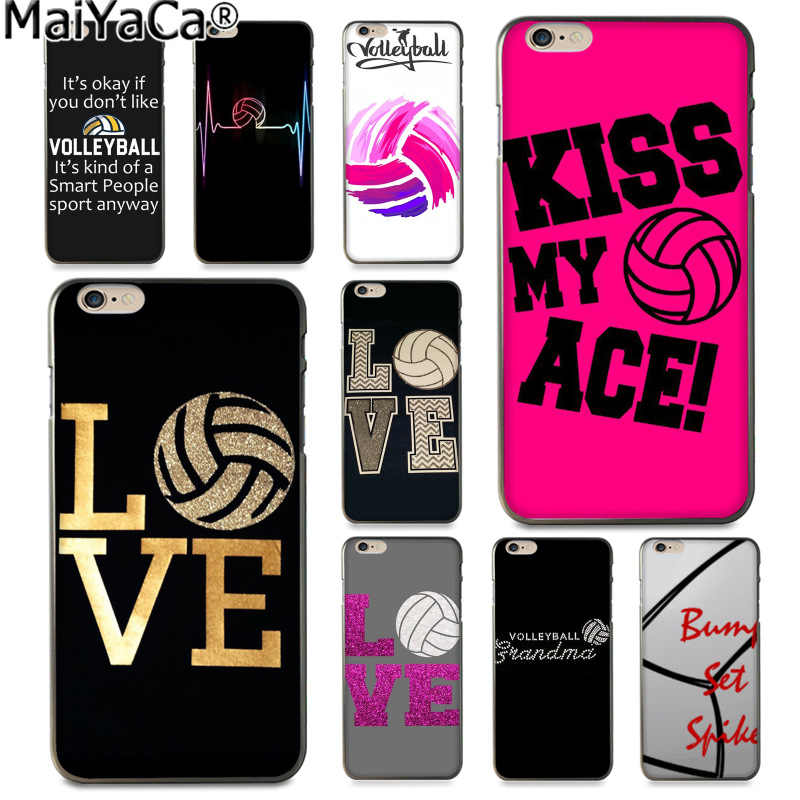 MaiYaCa Pink Volleyball Sports Luxury High-end phone Accessories Case for Apple iphone 11 pro 8 7 66S Plus X 5S SE XS XR XS MAX