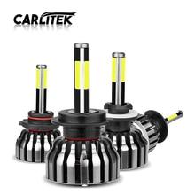 CARLitek 3D Faro Led H1 H4 H7 H11 9005 9006 HB3 HB4 881 H8 H9 880 881 samochodów Led reflektor żarówka mgła lampa 12000LM 6000 K 4 boczne diody