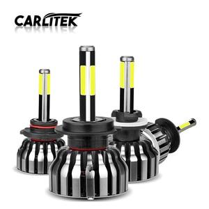 Image 1 - CARLitek 3D Faro Led H1 H4 H7 H11 9005 9006 HB3 HB4 881 H8 H9 880 881 samochodów Led reflektor żarówka mgła lampa 12000LM 6000 K 4 boczne diody