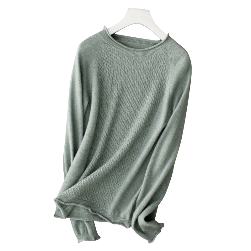 100 Pure Cashmere High end Women s Sweaters And Pullovers Soft Warm Long Sleeve Jumper O