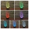 3D Bombilla Remoto Kid Noche de Ilusión LLEVÓ Mesa de Luz de La Noche Del Sueño USB Lámpara de Escritorio Táctil Iluminación de Halloween Navidad Regalo Deco Casero