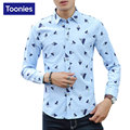 New Spring Fashion Brand Clothing Men Clothes Slim Fit Men Long Sleeve Shirt Men Printed Casual Men Shirt Social Plus Size M-3XL