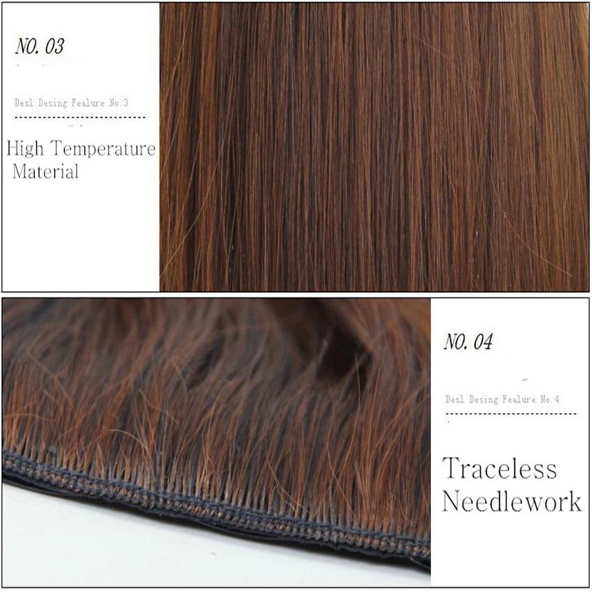 Feibin isječak u ekstenzije za kosu sintetička kosa 22inch 55cm - Sintetička kosa - Foto 3
