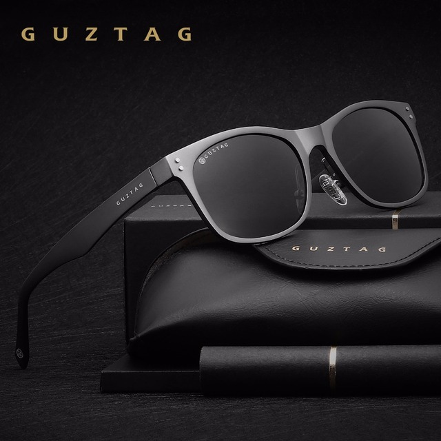 GUZTAG Sunglasses Aluminum Square Men/Women Polarized Mirror UV400 Sun Glasses Eyewear Sunglasses For Men oculos de sol G9201