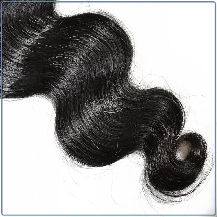 1 шт. 2017 горячей продажи гуанчжоу новая звезда волос бразильского виргинские человеческих волос бразильские объемная волна волос дважды утка ткет