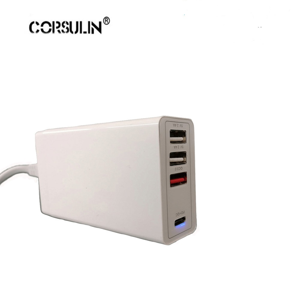 90W USB C PD Charger With 60W PD 3 Port USB For Laptops Smartphones Compatible MacBook
