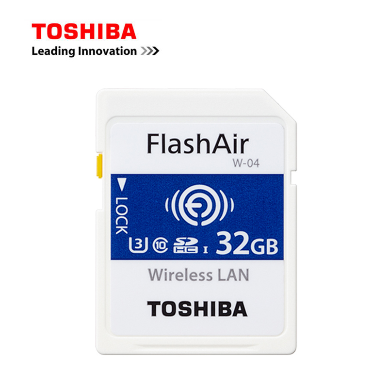 TOSHIBA Memory Card 32G W-04 Wireless LAN WIFI SD Card FlashAir Class10 SDHC Flash Camer ...