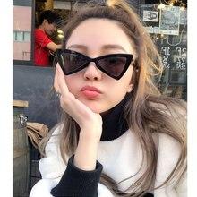 5d33fad5d 2019 صغيرة مثلث Cateye نظارات شمسية جميلة القط العين النظارات الشمسية سيدة  نظارات شمسية كلاسيكية المرأة لطيف مثير خمر نظارات شمس.