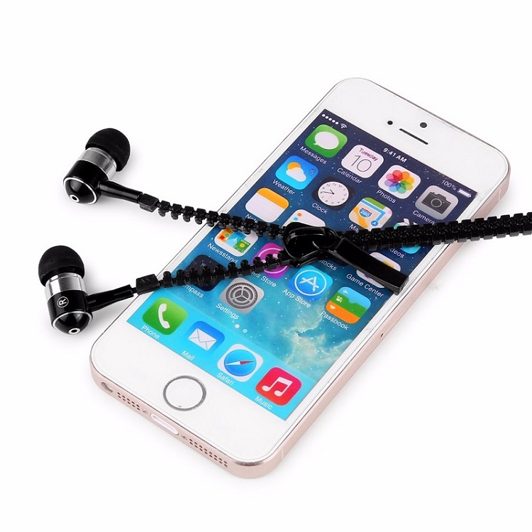 690505a9ad8 CYSHDAI New 3.5mm In Ear eadphone Microphone stereo earbuds Earphones Premium  Tangle Free Zipper earphone for Mp3/MP4 PC Phone-in Phone Earphones ...