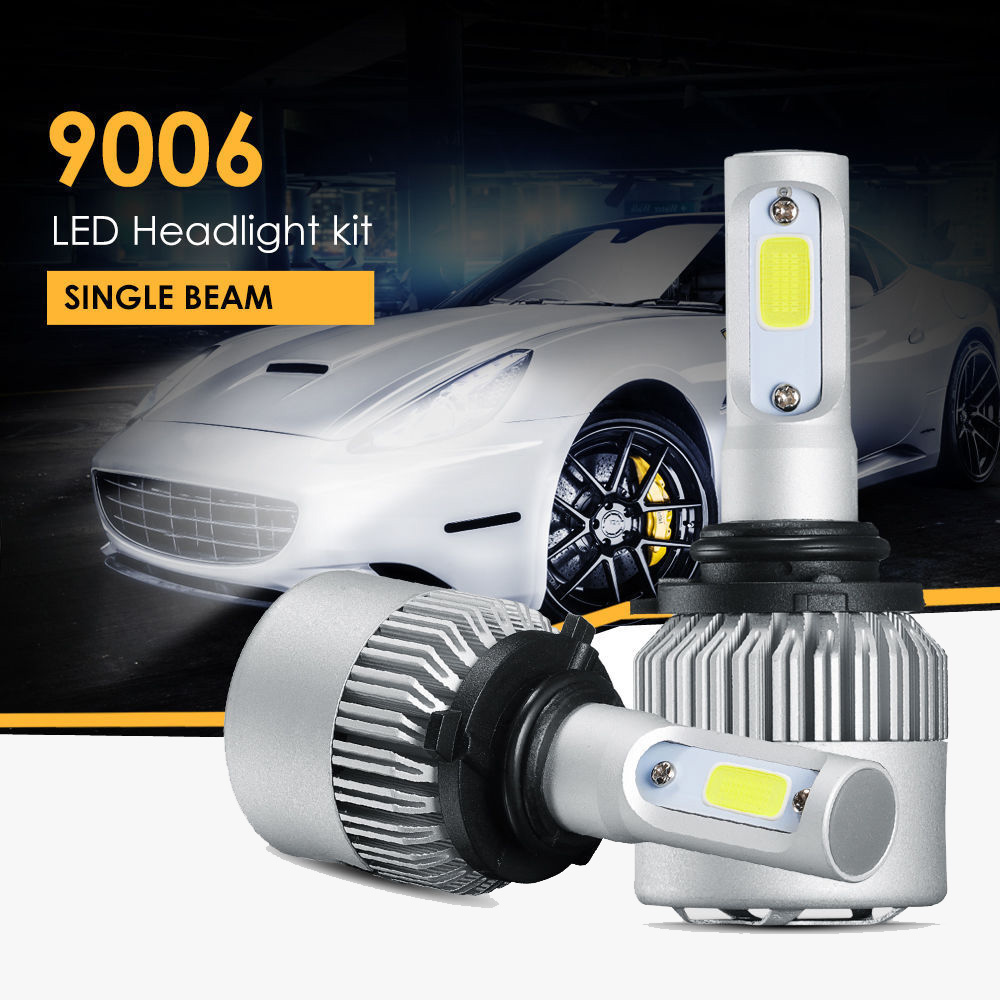 9006 HB4 LED Headlight Kit High Low Beam Light COB Lamps 200W 20000LM Bulb 6500K