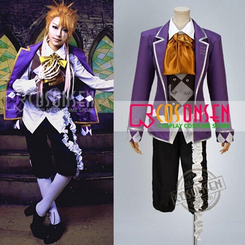 COSPLAYONSEN Anime Black Butler Kuroshitsuji Circus Joker Cosplay Costume All Size