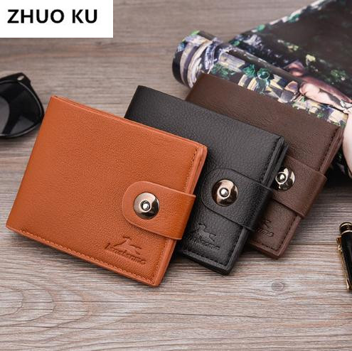 Promotions Small Short Handy PU Leather Men Wallet High Quality Male Clutch Bag For Coin Money Walet Mini Purse 2018 New Fashion