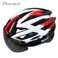 Deemount велосипедный шлем для велосипеда MTB горная дорога велосипедная Защитная крышка W/H светодиодный свет очки линзы в форме 26 полостей PC EPS п...