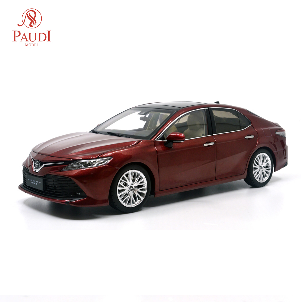 1/18 1:18 1 18 Scale Toyota Camry 2018 8th Generation Red Static Simulation Diecast Alloy Model Car Gifts Collections