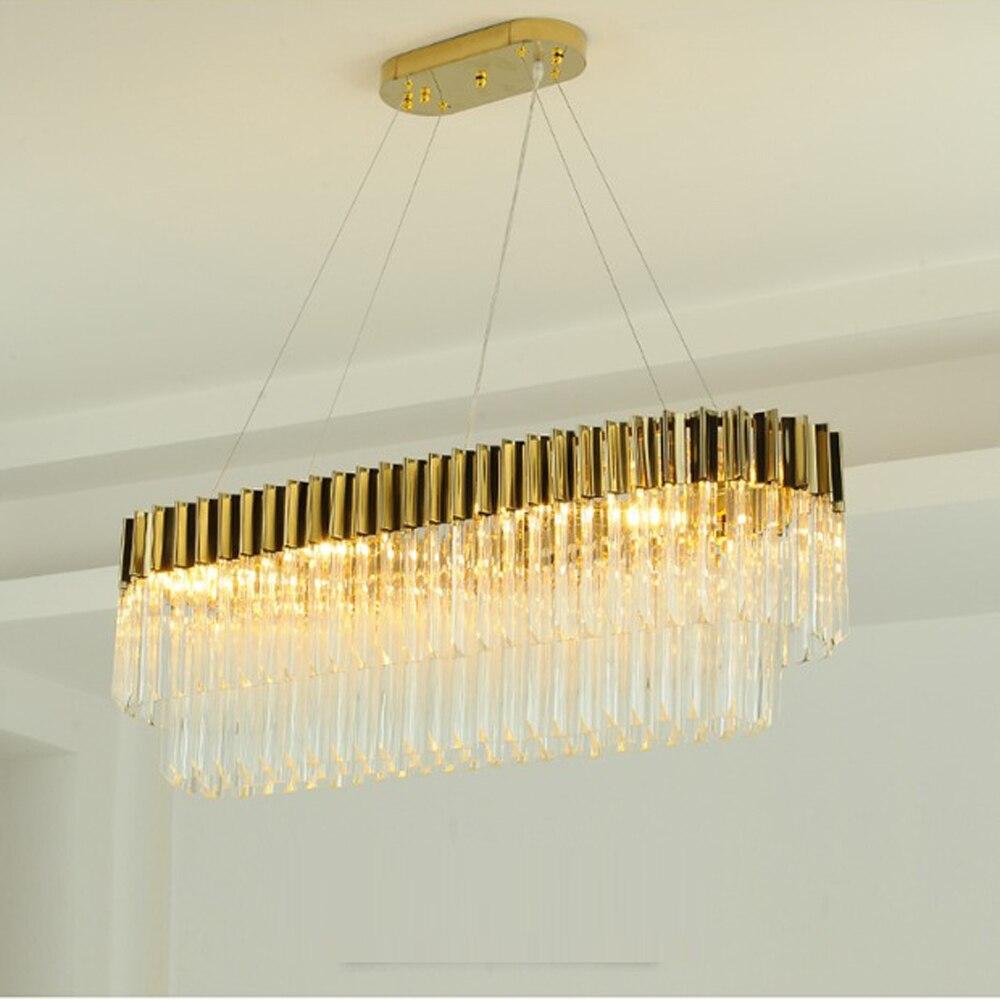 Nouveau design de luxe lustres en cristal moderne lampe pour salon salle à manger lustre d'or LED luminaires