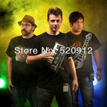 Wholesale and Retail Playable Electronic Music Band T-Shirt Kits Guitar+drum tshirt+piano t-shirts 3pieces/lot free shipping