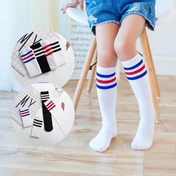 For 3-6Y Baby Kids Sport Socks Stripe Breath Elastic Cotton Kids Girls Boys Children Socks hockey sock