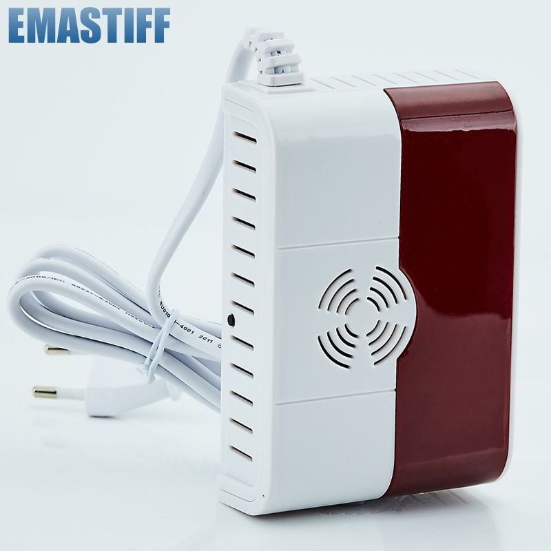 433MHz Wireless Natural Gas Leakage Detector Home Alarm Siren Safety Device Kitchen Security Sensor Free Shipping ...