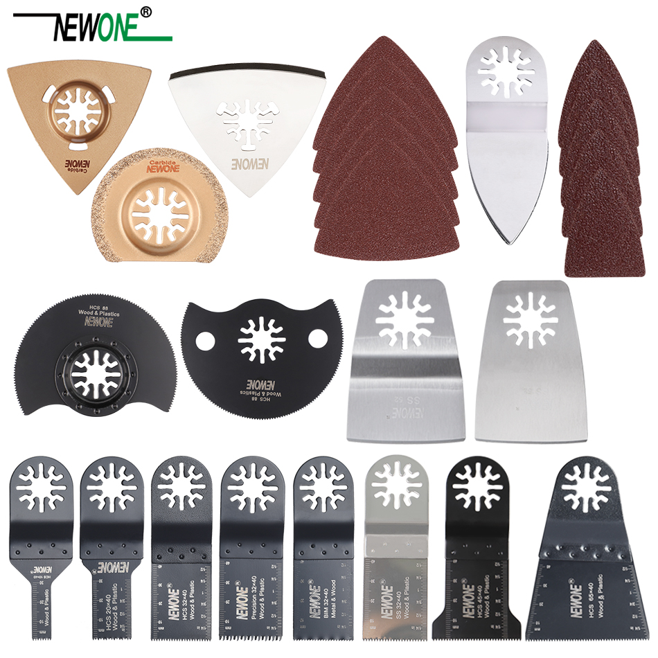 NEWONE 66 Pcs Oscillating Saw Blades For Renovator Power Tools As Fein Multimaster