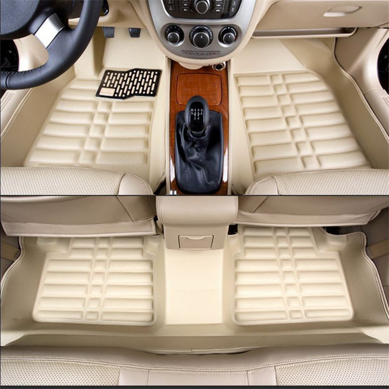 Car Floor Mats Covers Top Grade Anti Scratch Fire Resistant Durable Waterproof 5d Leather Mat