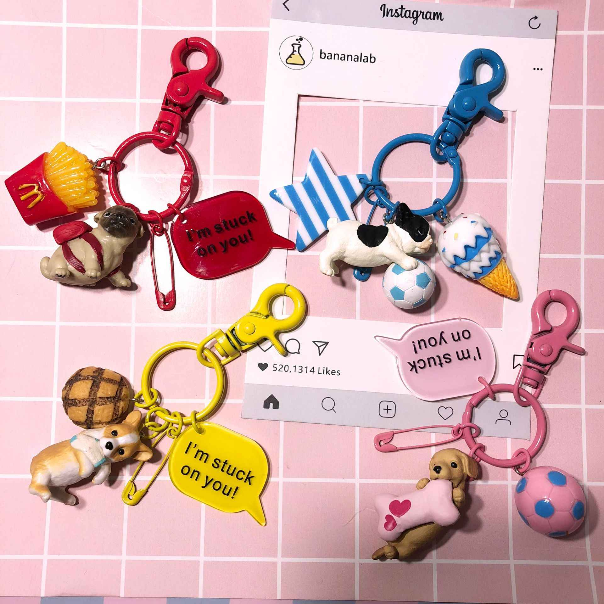2019 Новая любовь автомобильный брелок творческий мультфильм Хаски мультяшный кулон ПВХ собака маленький подарок талисман мешок мобильного телефона висит