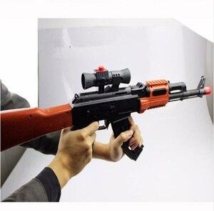 Image 4 - لعبة بندقية الاعتداء الكلاسيكية AK 47 ، بندقية رماية لينة للرصاص ماصة للماء ، بندقية لعبة للأولاد ، أفضل هدية