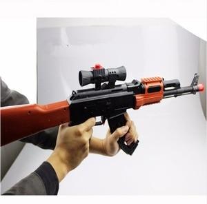 Image 4 - Classic AK 47 Assault Rifle Toy Gun Shooting Soft Bullet Water Absorbent Bullet Blaster Gun Toy Boys Best Gift