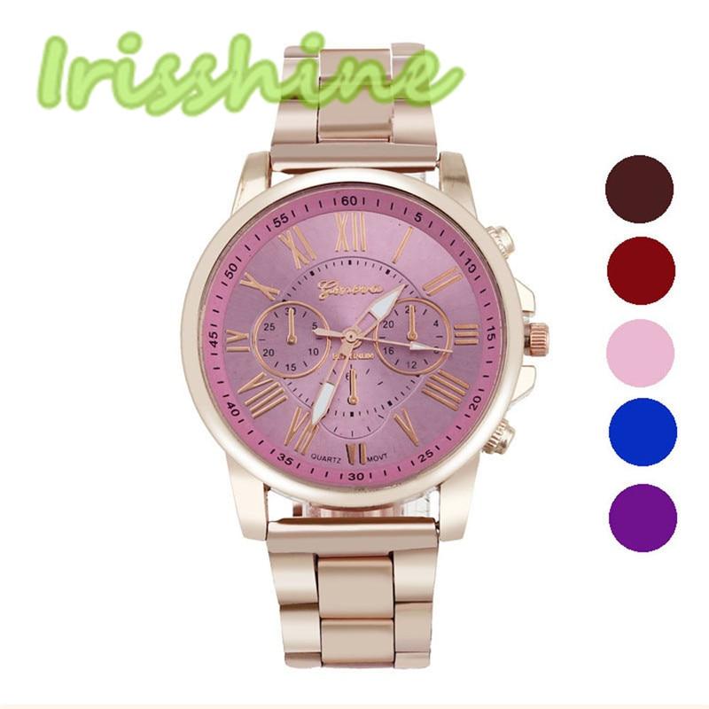 Irisshine #1177 Couple Watches Luxury Stylish Fashion Stainless Steel Quartz Sports Dial Wrist Watch Boys And Girls