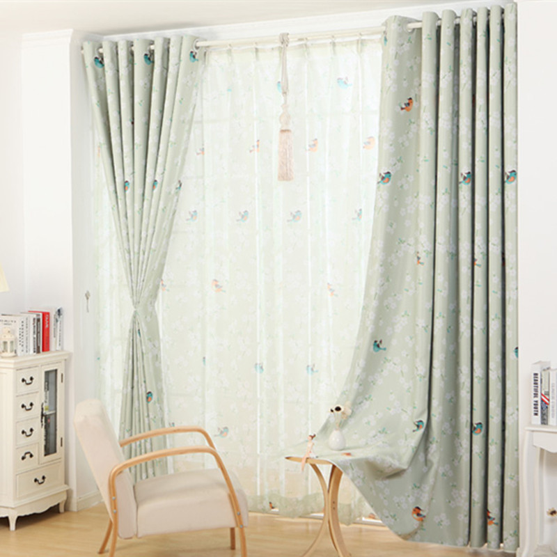 Hot Sale Modern Small Floral Curtains For Window Curtain Sheer Curtains For  Living Room Bedroom Blackout Fabric Shade Panel