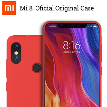 Originele Xiaomi Mi8 Se Case Natuur Vloeibare Siliconen + Fiber Soft Cover Case Voor Xiaomi Mi8 Mi8SE M8 Shockproof echte Xiaomi