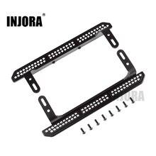 INJORA 2PCS TRX4 מתכת רוק גולשים דוושת עבור 1/10 RC Crawler Traxxas TRX 4 שדרוג חלקים
