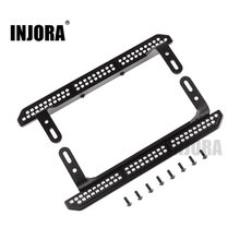 INJORA 2PCS TRX4 Metal Rock Sliders Pedal for 1/10 RC Crawler Traxxas TRX 4 Upgrade Parts