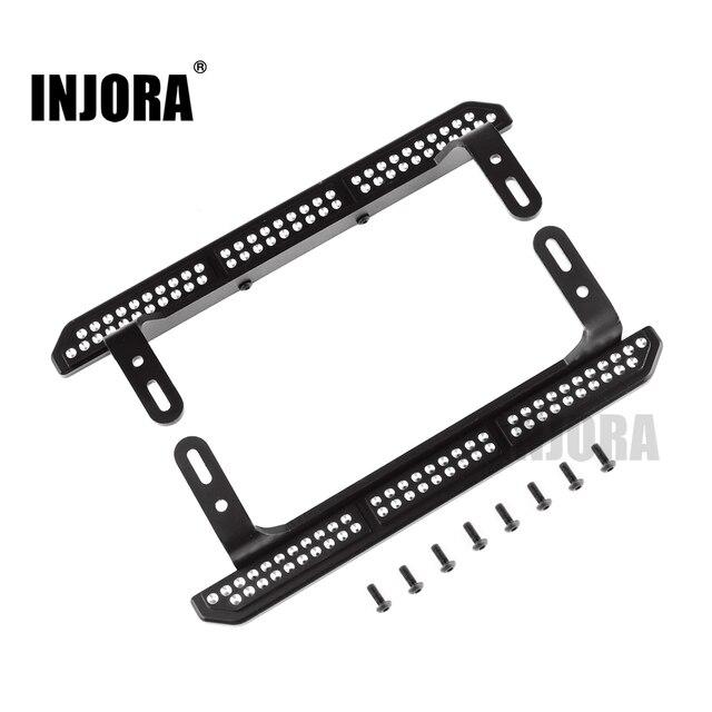 INJORA 2PCS TRX4 Metal Rock Sliders Pedal for 1/10 RC Crawler Traxxas TRX 4 Upgrade Parts