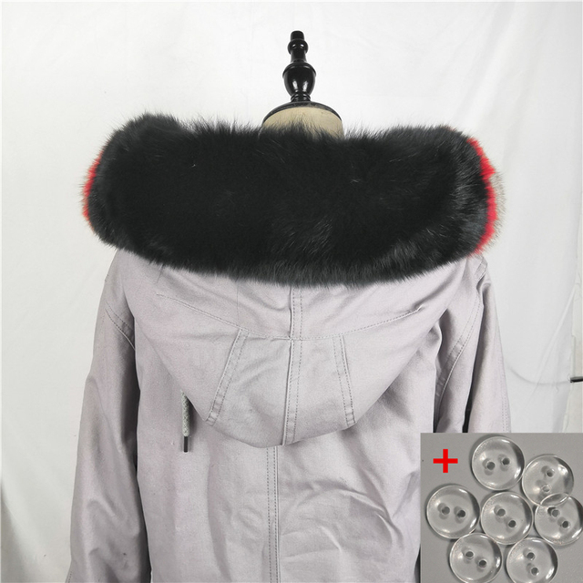 Natural Fox Fur 75cm Collar for Hood 100% Real Fur Collar Scarf Fox Fur Collar Scarf Custom Made Winter Fur Hood trimming