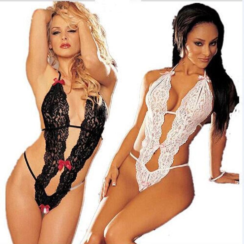 2017 New Sexy Lingerie Lace Sleepwear Pajamas Langerie Erotic Uniform Womens Underwear Conjoined Dress Leotard Intimates A120